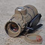 GPC Teleskop - Fernglas - Fernglas - Wasserdicht - Anti-Beschlag - Wenig Nachtsicht - Mit Kompass - Entfernungsmesser portable HD,Fernglas,Fernrohr