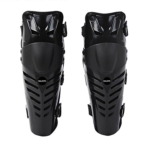 Erwachsene Knie/Schienbeinschoner Motocross Körper Schutz Motorrad Knieschützer Professioneller High Qualität Motocross Kniebandage Motorrad 2Pcs Motorrad Erwachsenen Körper Knieschoner (schwarz & rot) (Volleyball-jugend-knee-pads)