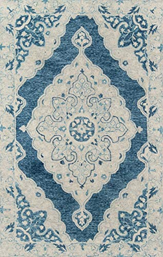 Momeni TANGITAN36BLU2380 Teppich Tangier Collection, ca. 76 x 2,4 m, Blau -