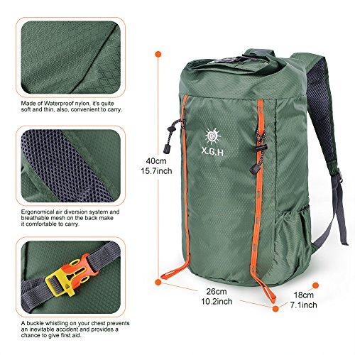 Vbiger 25L Casual Zaino Zaino Uomo Zaino Donna Zaino Trekking Borse Sportive Zaino Alpinismo Zaino Escursionismo esercito verde 1