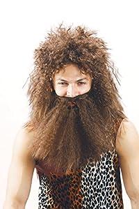 Rire et Confetti Fiecav023 - Accesorios para disfraz de hombre de las cavernas (incluye peluca y barba)