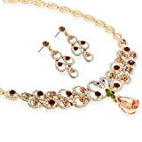 Royal Swan Love Heart Swarovski Elements & Czech Crystals Jewellery Set, Janeo Jewellery
