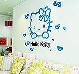 Adesivi Murali Gatto Fai da Te Murale per Camere per Bambini Camere da Letto Acrilico Bella Decalcomanie Poster Home Decor Sticker Adesivi Murali Arte 20x32 inch