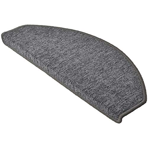 Beautissu 15 Large Stair Pads ProStair 28 x 65 cm Step Carpet Non Slip Adhesive Mat/Rug for Stair Tread Grey