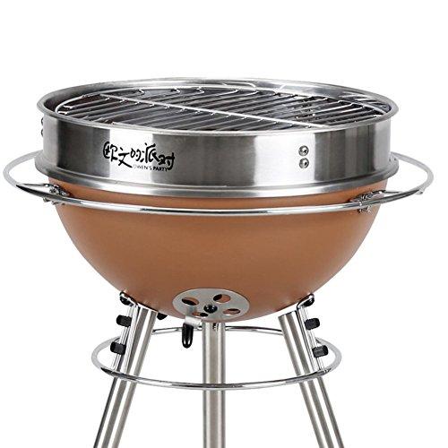 TY&WJ Holzkohlegrill, Outdoor Hausgarten Faltbar Tragbarer Bbq Barbecue Werkzeug Für Party Camping Höhe Verstellbar - 31x31x71cm(12x12x28inch)