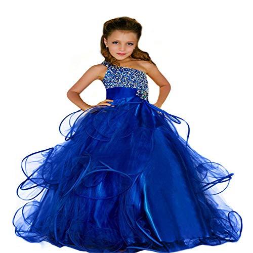 Bangxiu-dress Mädchen Prinzessin Kleid Geburtstagsfeier-Mädchen-Show-Tutu-Rock-Partei-Kleid-Lange Rock-Host-Kostüme für Hochzeit Brautjungfer Prom Cocktail (Größe : - Tanz Kostüm Mädchen Im Teenageralter