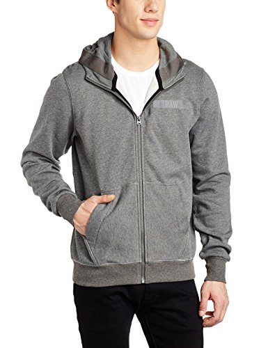 G-STAR RAW Herren Sweatshirt Core Hooded Zip Sw L Grau (GS Grey HTR 1665)