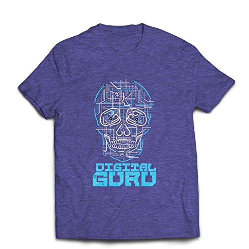 Männer T-Shirt Der Digitale Guru - technologische, Computer, Programer oder Gamer Geschenkideen (Medium Heidekraut Blau Mehrfarben)