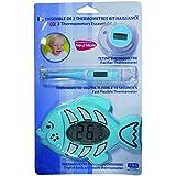 LBS Medical - Kit de Naissance comprenant 1 Tetine Thermometre Electronique + 1 Thermometre Digital Flexible et 1 Thermometre Electronique Duo Bain / Chambre