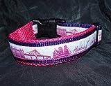 Hunde Halsband Hamburg Skyline Pink