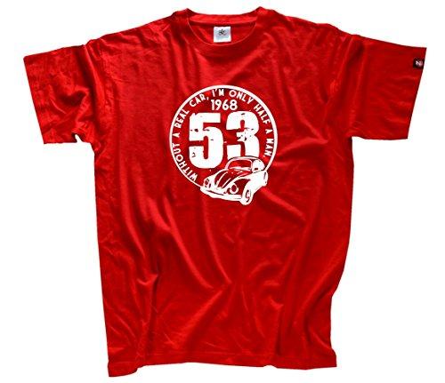 Shirtzshop Herren Beatle Kaefer - Without a real car T-Shirt Rot XXL -