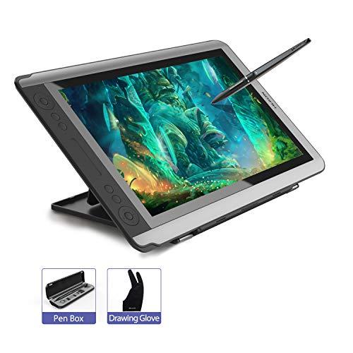 HUION KAMVAS GT-156HD V2 15,6 Zoll Grafiktablett mit Display 8192 Stufen Drucksensitivität Stifttablett Zeichen-Display mit Tastenkombinationen, Voll-HD IPS Grafikmonitor
