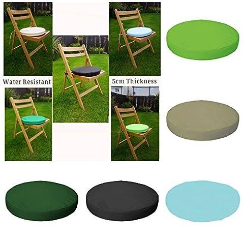 Garden Mile Außen/Innen Wasserdicht Stuhl Und Terrasse Möbel Gepolstert Kissen NUR Gartenmöbel Polster Rund - Creme, 33cm