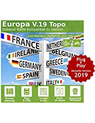 16GB EUROPA Professional Card–Perfect for holidays Compatible With GARMIN