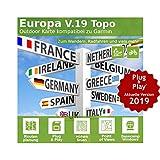 Europa V.19 - Profi Outdoor Topo Karte - Kompatibel zu Garmin Dakota 20, eTrex 20, eTrex 20X, eTrex 25, eTrex 25t, eTrex Touch 25