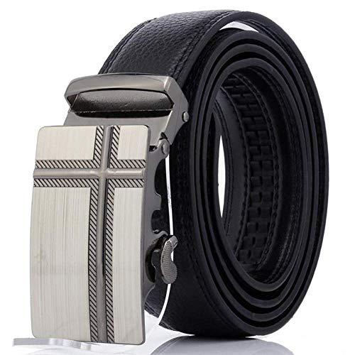 aoliaoyudonggha Mens Automatic Leather Strap Buckle Belts Girdle Wide Belt Waistband Ceinture Double Stud Belt