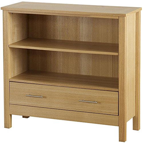Seconique Oak Occasional Oakleigh 1 Drawer Bookcase (Low)