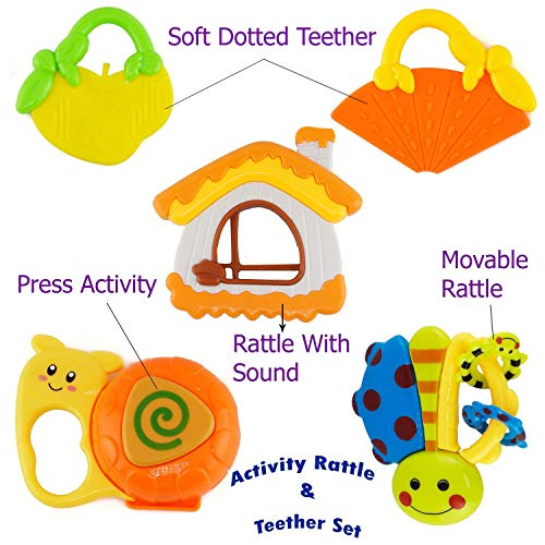Linkable Toys For Stroller Car Seat Teething Baby Infant BPA Free Plastic 18 Pcs