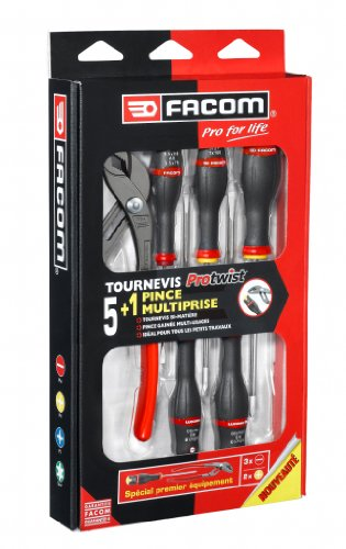 Facom AS5.170PG Coffret de 5 tournevis + 1 Pince multiprise