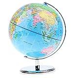 MagiDeal 20cm Geographische Weltkarte Globus, 360 Grad drehender, mit Metallständer, Desktop Dekoration, Kinder Lernspielzeug - # B