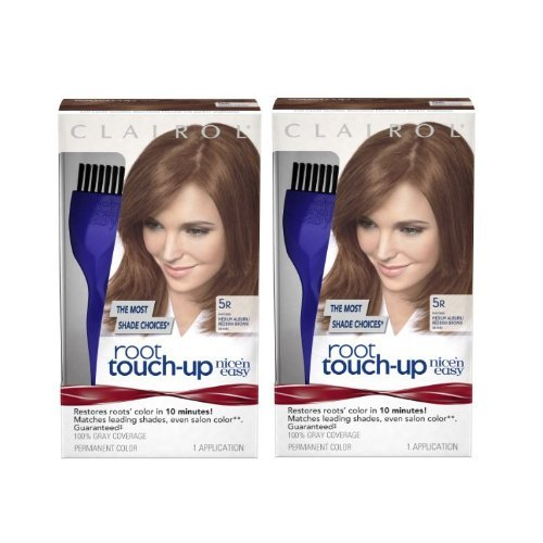 ClAIROL Nice 'n Easy Root Touch-Up 5R Matches Medium Auburn/Reddish Brown Shades 1 Kit by Clairol - Clairol Touch-up