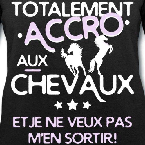 Spreadshirt Totalement Accro Aux Chevaux Sweat-shirt bio Stanley & Stella Femme Noir