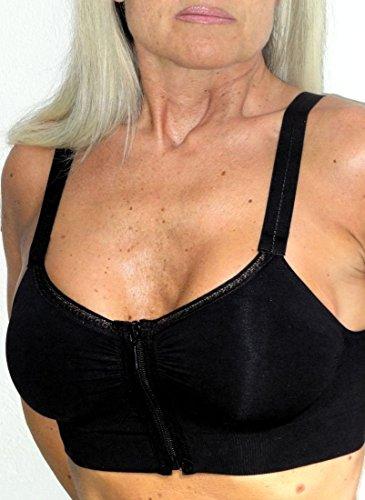 Reggiseno con zip frontale, senza ferretti, adatto dopo aumento seno