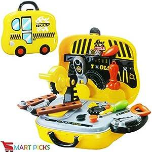 Smart Picks Kids Bring Along Junior Builder Tools Suitcase (Multicolor, 31 Pieces)