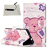 Huawei P8 Lite Case Pink,Huawei P8 Lite Case for Girls,Huawei P8 Lite Flip Cover,TOCASO Lightweight Thin Cartoon Pattern PU Leather Wallet Case With Build-in Stand Up View Function ID Credit Card Slots Holder Pouch Magnetic Closure Soft Silicone Inner Bac