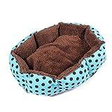 FOCUSPET-Cestino Scomparto rimovibile-Copriletto a Pois Casa per animale cane gatto