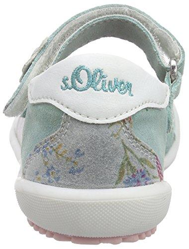 s.Oliver 34202, Ballerines fermées fille Vert - Grün (TURQUOISE 796)