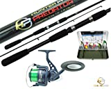 Best Bass Rods - Pike Bass Fishing Kit With 7' Spinning Rod Review