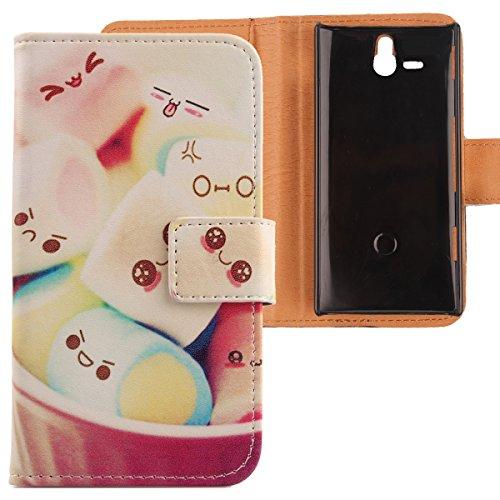 Lankashi PU Flip Leder Tasche Hülle Case Cover Schutz Handy Etui Skin Für Sony Xperia U ST25i Lovely Design