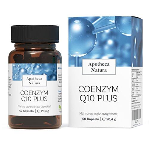 Apotheca Natura Coenzym Q10 Plus, 60 Hochdosierte Vegane Kapseln, in Kombination mit natürlichem Wirkungsverstärker Piperin