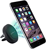 Abco tech air vent car mount holder with magnetic one step mounting technology- compatible with all smartphones such as iPhone 6, iPhone 5/ 5S/ 5C/ 4 /4S, Samsung Galaxy S5/ S4 /S3 /Note 3 ,HTC One, nexus 7,tablets and GPS devices (Black)