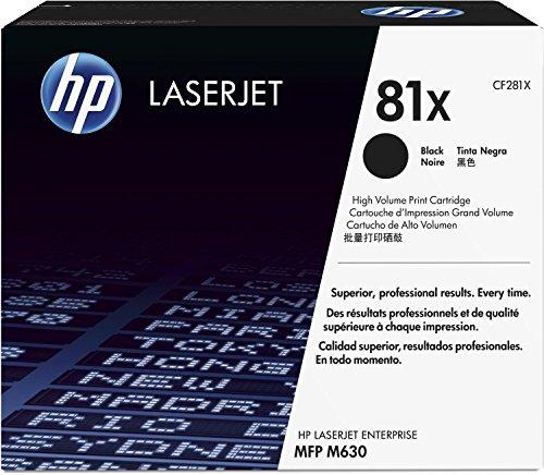 Preisvergleich Produktbild 1x Original HP Toner CF281X CF 281X für HP Laserjet Enterprise M 606 DN - BLACK - Leistung: ca. 25000 Seiten/5%