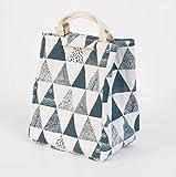 Driverder Wasserdichtes Segeltuch-Einfaches Muster-Tragbare Kühltasche-Mittagessen-Tasche (Blaues Dreieck)