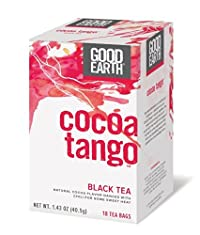 Good Earth Cocoa Tango Black Tea, 18 Count Tea Bags