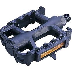 ETC - Pedales para bicicletas de montaña (resina), color negro