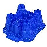 GMMH Silikonbackform Burg groß Backform (blau)