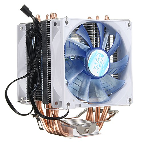 Tutoy 92 mm 3 Pin Blau Led Kupfer CPU Kühler Lüfter Kühlkörper Für Intel Lga775/1156/1155 AMD Am2/2 +/3