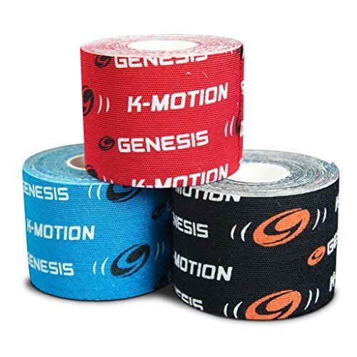 Genesis k-Motion Tape mit Kupfer infuzion- 3Farbe ungeschliffen Pack