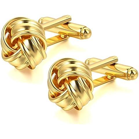 JewelryWe 2pcs Botones de gemelos amor N & # x153; ud camisa boda Business Fantasía para hombre cobre color opcional