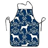 QIAOJI Impermeable Cocina Delantal de Perro de Puntero de Pelo Corto alemán Delantal de Chef Personalizado para Mujeres Hombres Delantal de Babero de Cocina Ideal para Lavar Platos Limpieza Pintura