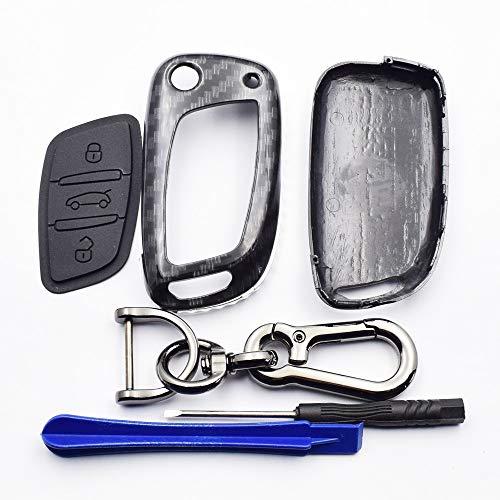 WHXHN Autoschlüssel Fall Folding Remote Fob Shell Cover Schlüsselbund, für Peugeot 207 307 308, für Citroen C2 C3 C4 C5 C6 C8 Zubehör -