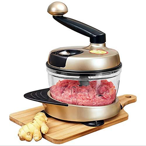 Küche Manuelle Küchenmaschine Fleischwolf Gemüsehacker Mit Handkurbel Und 3 Klingen Grüne Farbe (1500 ML)