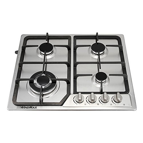 "Anmas Home 23"" Stainless Steel 4 Burner Stoves Gas Hob Cooktops Cooker Gas Oven 11259Btu/H"