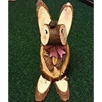 wooden animal garden ornaments- made with wood logs
