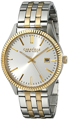Caravelle New York  Dress Analog Champagne Dial Men's Watch - 45B129 image