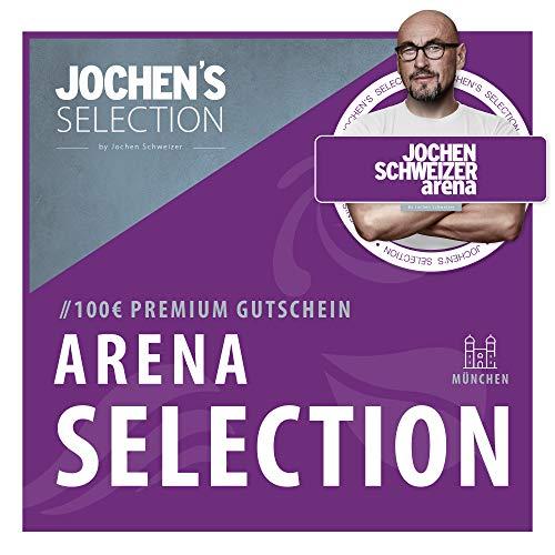 Jochen Schweizer Arena Gutschein 100€ I Erlebnis-Box Arena Selection 100€ I Wahlgutschein einsetzbar für Bodyflying, Surfen, Parcours, Flying Fox, Outdoor-Park, Jump, Restaurant etc. I Geschenk-Box